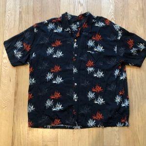Guess Hawaiian Shirt Black Red